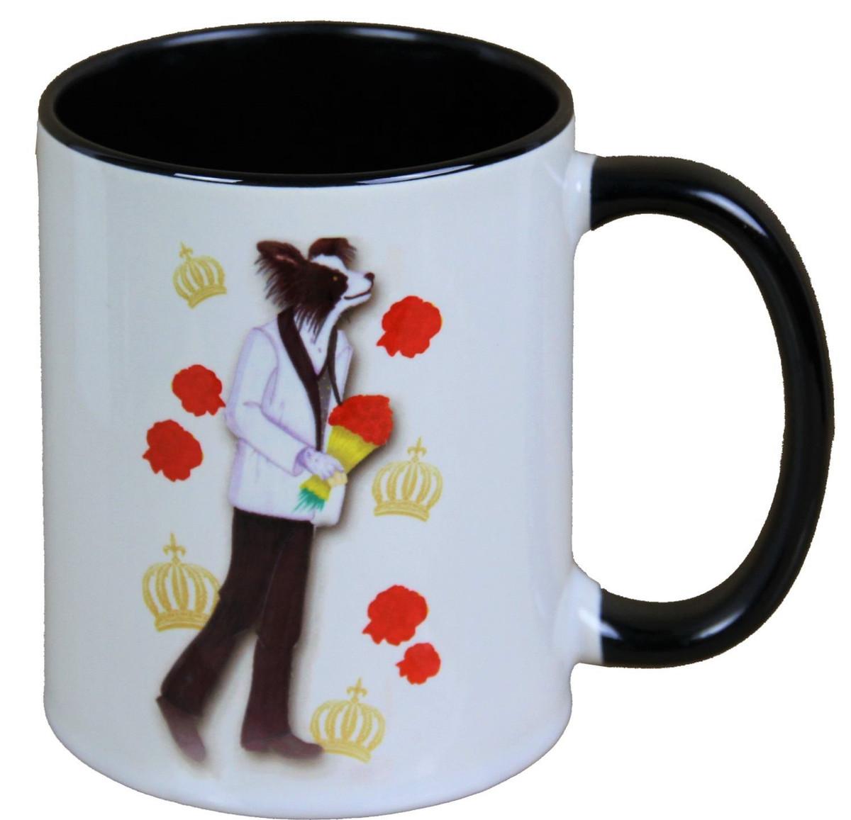 harald gl ckler pomp s tasse hund mit blumenstrau designed by harald gl ckler harald. Black Bedroom Furniture Sets. Home Design Ideas