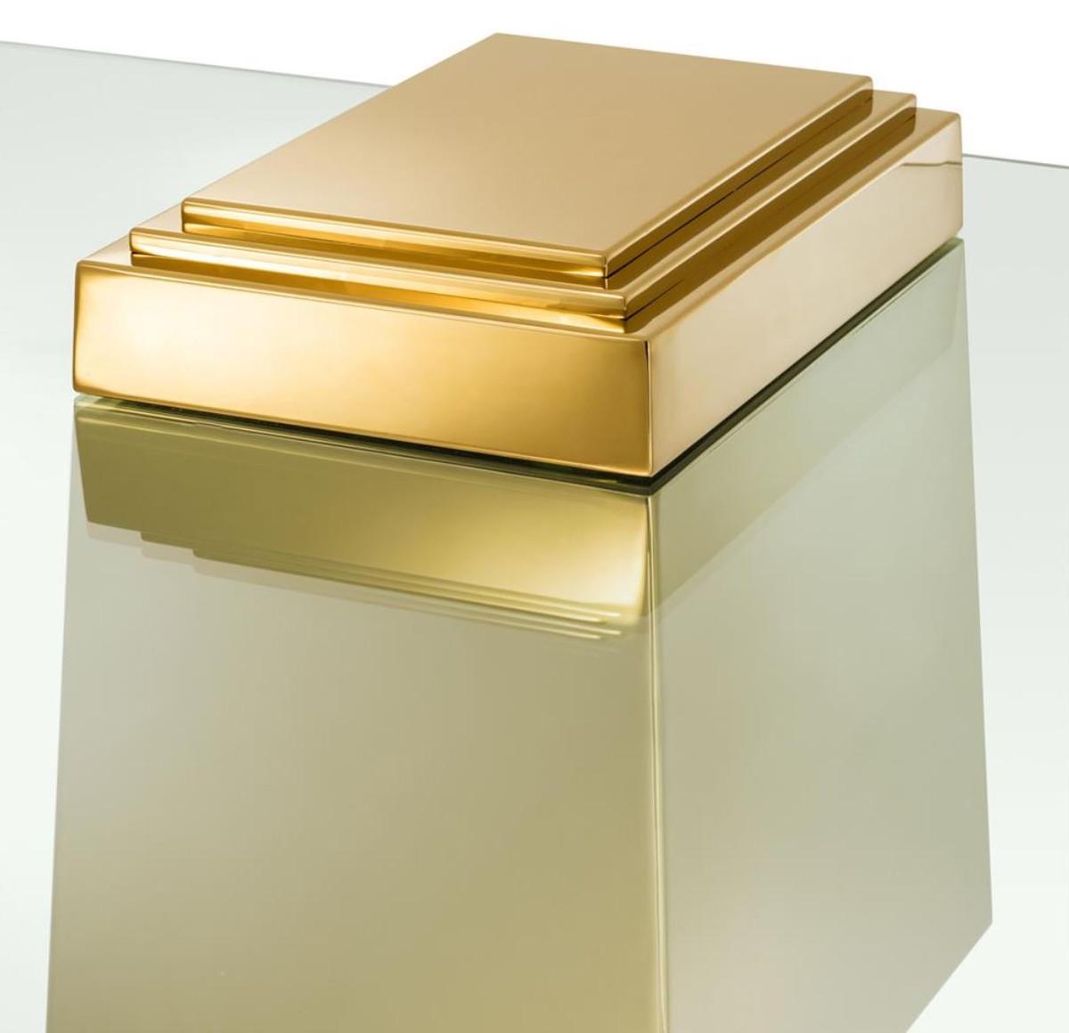 Casa padrino luxus couchtisch wohnzimmertisch gold 105 x for Luxus couchtisch