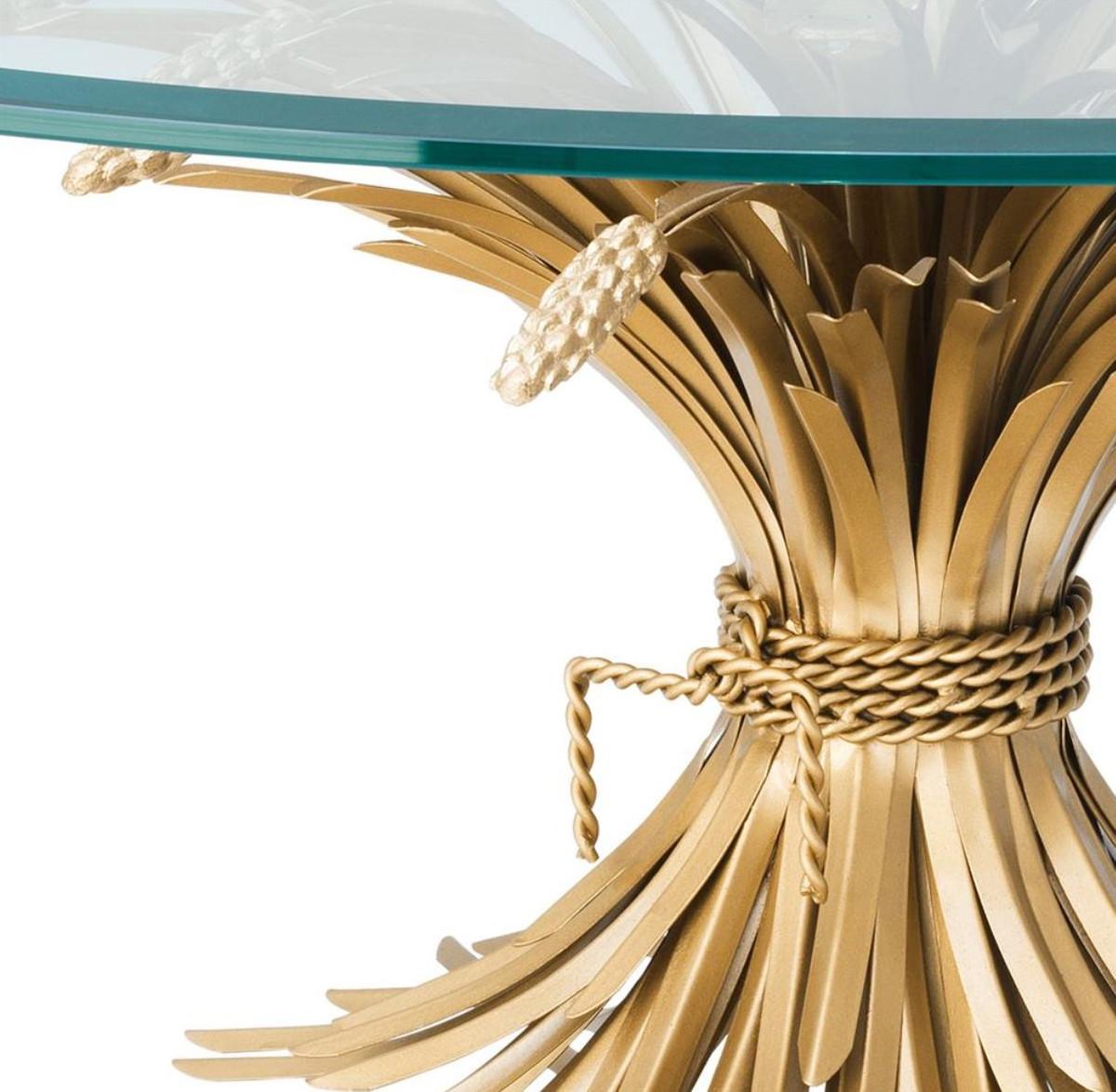 Casa padrino luxus couchtisch wohnzimmertisch antik gold 90 x h 43 cm designerm bel - Wohnzimmertisch antik ...