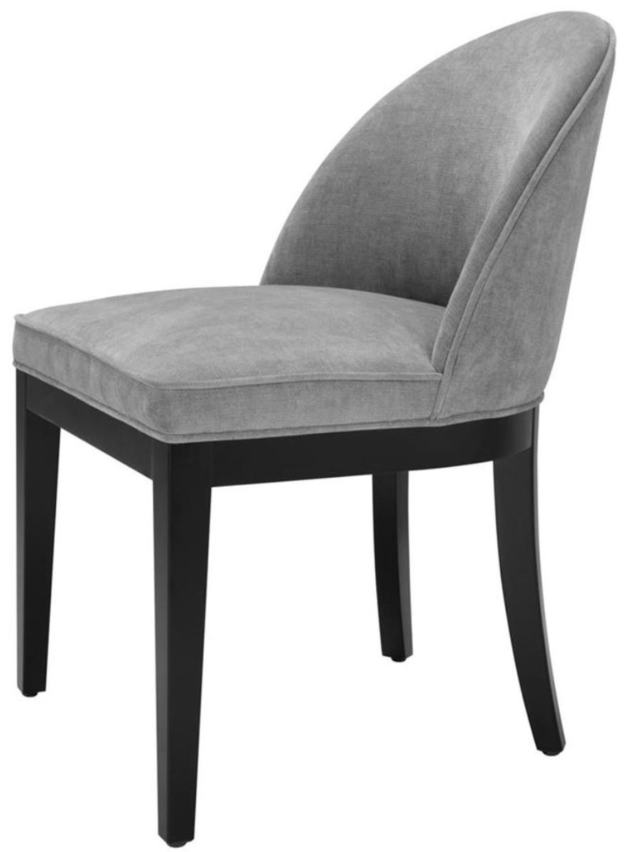 casa padrino luxus esszimmerstuhl grau schwarz 55 x 61 x h 84 cm luxus m bel st hle luxus. Black Bedroom Furniture Sets. Home Design Ideas