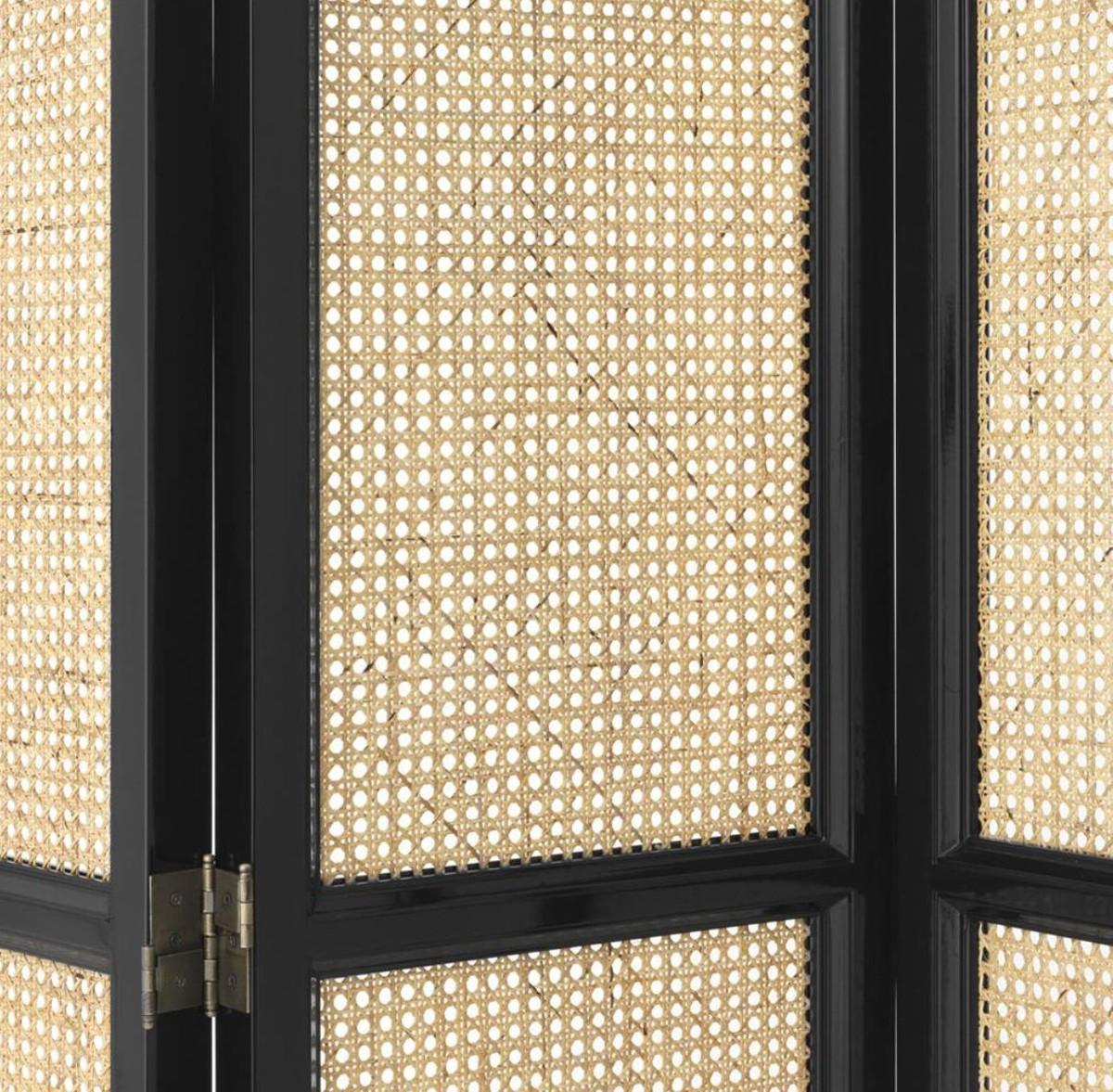 casa padrino luxus raumteiler schwarz naturfarben 163 x. Black Bedroom Furniture Sets. Home Design Ideas