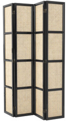 Casa Padrino Luxury Room Divider Natural / Black 163 x H. 225 cm - Limited Edition