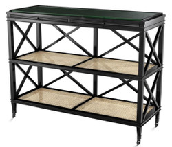 Casa Padrino Luxury Console Black / Natural 124 x 47 x H. 96 cm - Limited Edition
