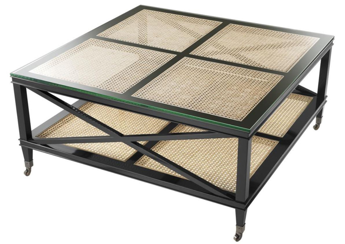 Casa padrino luxus couchtisch schwarz naturfarben 100 x for Luxus couchtisch