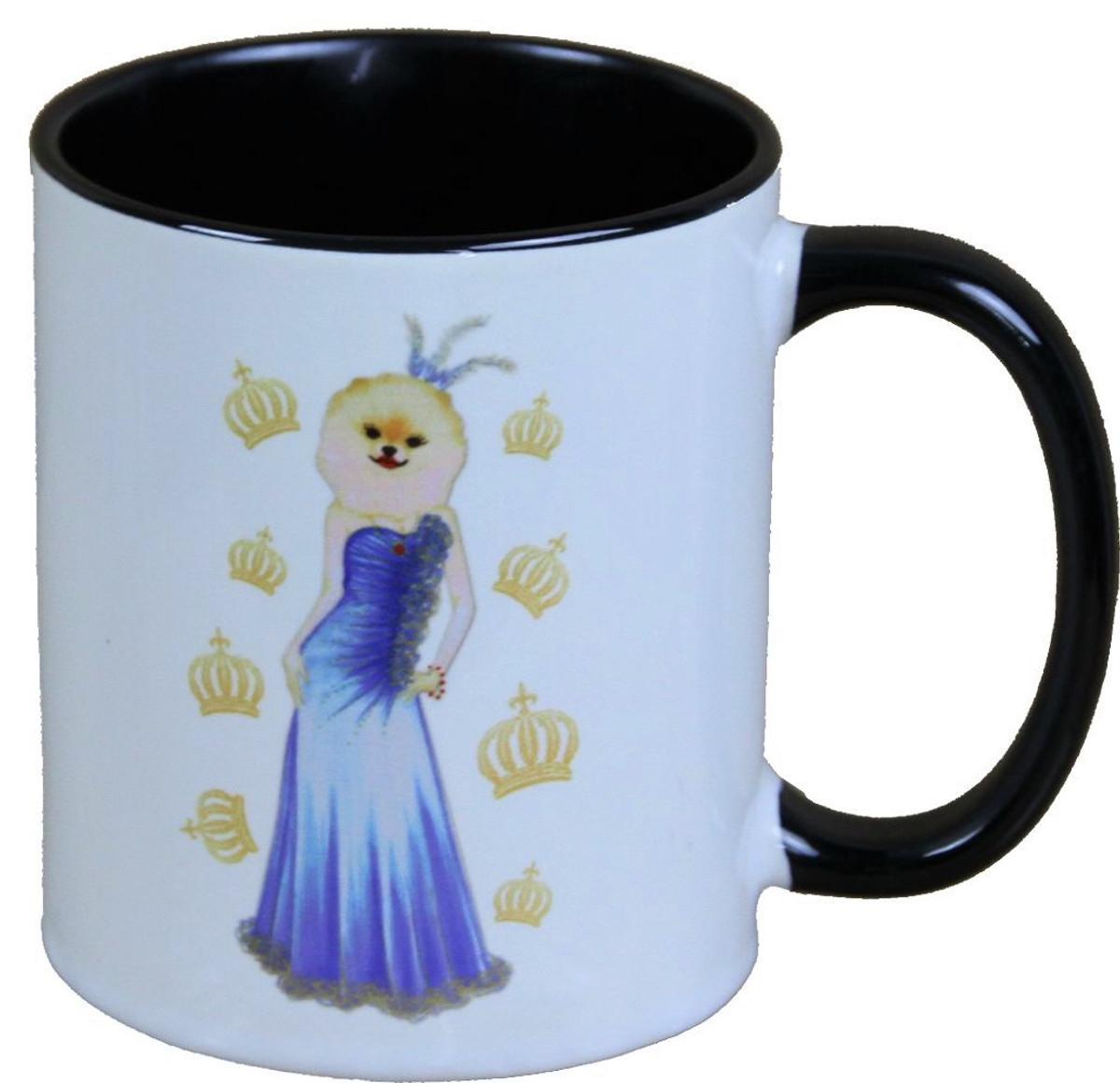 harald gl ckler pomp s cup dog with blue evening dress designed by harald gl ckler harald. Black Bedroom Furniture Sets. Home Design Ideas