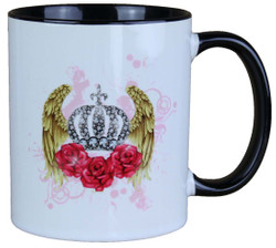 Harald Glööckler Pompöös Mug red roses with crown - designed by Harald Glööckler