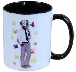 Harald Glööckler Pompöös Mug dog with tie - designed by Harald Glööckler