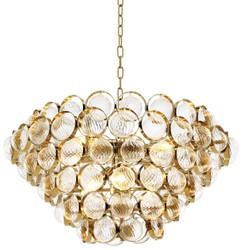 Casa Padrino Luxury Chandelier Gold Ø 72 x H 40 cm - Limited Edition
