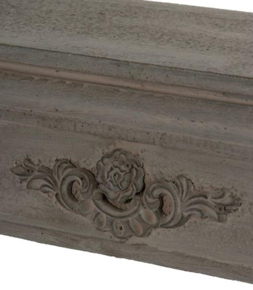 Casa Padrino Landhausstil Kaminumrandung Antik Graubraun 113 x 19 x H. 101 cm - Handgefertigte Shabby Chic Möbel 3