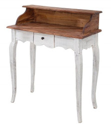 Casa Padrino Country Style Desk Antique White / Natural 80 x 40 x H. 92 cm - Desk in shabby chic look