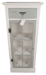 Casa Padrino Country Style Chest of Drawers Antique White / Light Gray 58 x 37 x H. 139 cm - Furniture in Country Style