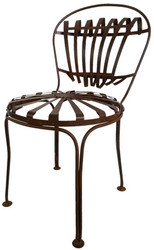 Casa Padrino wrought iron garden chair Ø 40 x H. 90 cm - various colors - Art Nouveau Garden Furniture