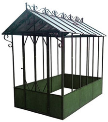 Casa Padrino Greenhouse 150 x 245 x H. 265 cm - Various Colors - Wrought Iron Greenhouse with Galvanized Tin Roof