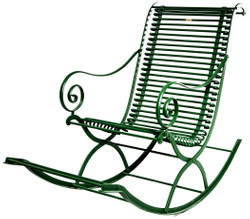 Casa Padrino Wrought Iron Garden Rocking Chair 55 x 150 cm - Various Colors - Handmade Garden Furniture