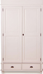 Casa Padrino Country style cabinet Antique White 120 x 60 x H. 250 cm - Two-door cabinet with 2 drawers in country style