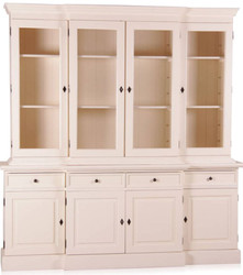 Casa Padrino Shabby Chic Country Style Cabinet Buffet Cabinet 6 Doors Antique Style White with 4 Drawers - Cabinet Dining Room