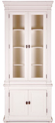 Casa Padrino Country Style Showcase Antique White 100 x 50 x H. 242 cm - Handmade Shabby Chic Showcase