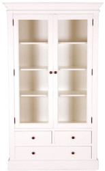 Casa Padrino Country Style Showcase Antique White 110 x 45 x H. 190 cm - Handmade Shabby Chic Showcase