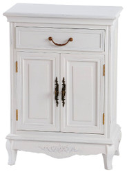 Casa Padrino country style chest of drawers antique white 53 x 30 x H. 75 cm - Shabby Chic Furniture