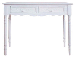 Casa Padrino Country Style Console White 98 x 34 x H. 78 cm - Handmade Country Style Console Table 1