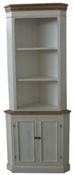Casa Padrino Country Style Corner Cabinet Antique White / Brown 52 x 52 x H. 184 cm - Handcrafted Country Style Cabinet