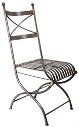 Casa Padrino Wrought Iron Garden Chair 37 x 38 x H. 84 cm - Various Colors - Art Nouveau Garden Furniture