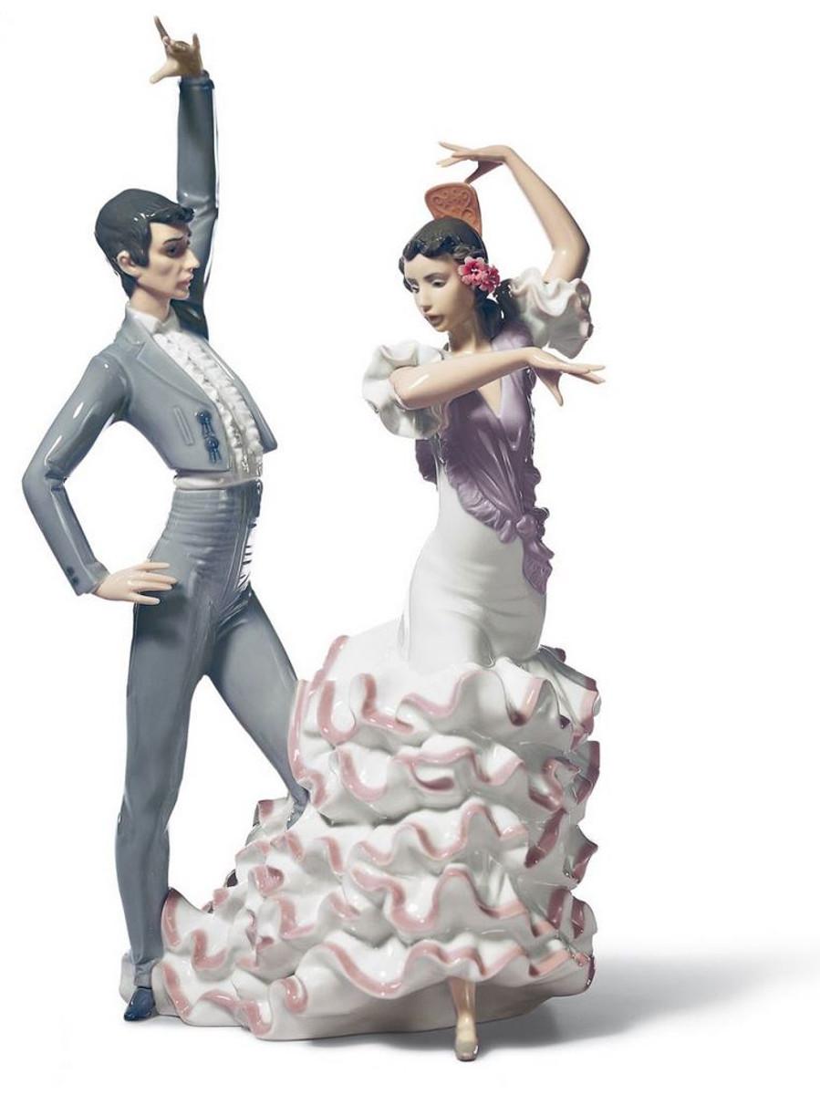 Casa Padrino Luxury Porcelain Sculpture Flamenco Dancer Multicolor 30 X H.  43 Cm   Handmade Luxury Decoration Decorations Figures / Statues