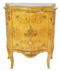 Casa Padrino Baroque dressers cabinet with marble top birdseye - Furniture Chest