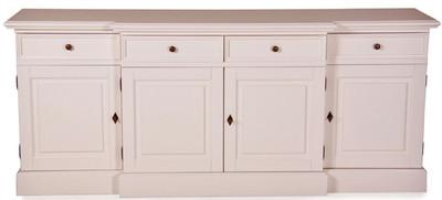 Casa Padrino Shabby Chic Country Style Dresser White W 217 cm - H 90 cm Furniture Hallway Dining Cabinet – Bild 1