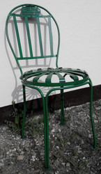 Casa Padrino Garden Chair 40 x 40 x H. 90 cm - Various Colors - Handmade Garden Furniture in Art Nouveau Style