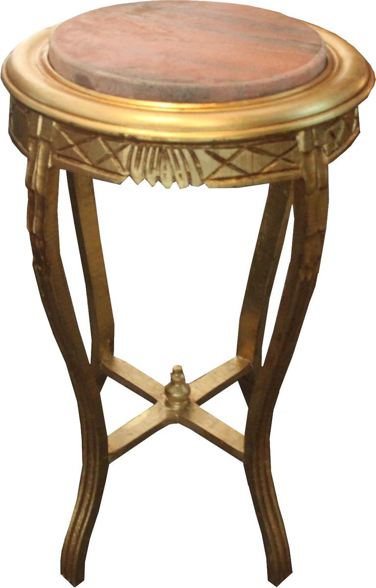 barock beistelltisch rund gold b 40 cm x h 68 cm. Black Bedroom Furniture Sets. Home Design Ideas