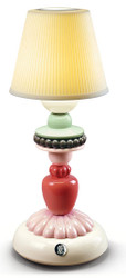 Casa Padrino Luxury Table Lamp Ivory / Multicolored Ø 12 x H. 30 cm - Porcelain LED Table Light