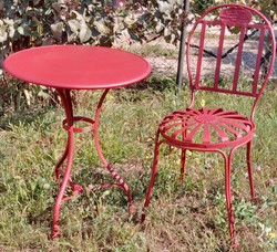 Casa Padrino Art Nouveau Garden Furniture Set - Various Colors - Garden Table & Garden Chair in Art Nouveau