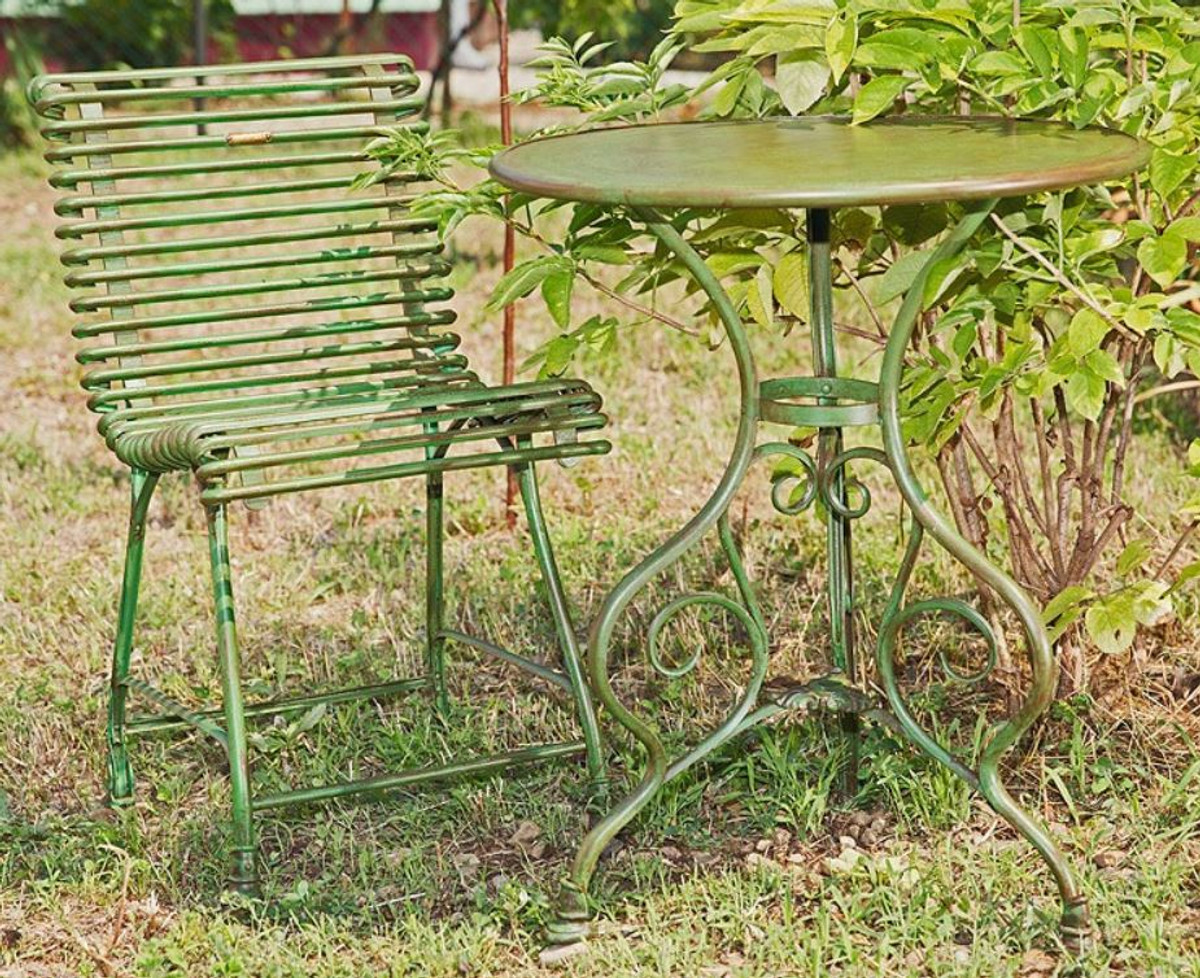 Casa Padrino Art Nouveau Garden Table & Garden Chair - Various Colors -  Garden Furniture Set in Art Nouveau