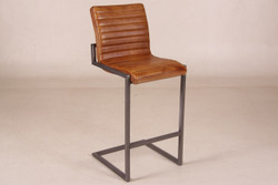Casa Padrino Designer Bar Chair Brown - Bar Stools - Furniture Restaurant Hotel