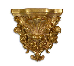 Casa Padrino Baroque Wall Console Antique Gold 16.5 x 34.9 x H.36.3 - Hotel Furniture