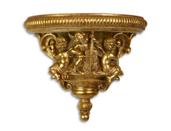 Casa Padrino Baroque wall console with angels antique gold 20.2 x 39.7 x H.33,6 - Hotel furniture