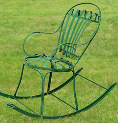 Casa Padrino Garden Rocking Chair 46 x 130 x H. 95 cm - Various Colors - Handmade Wrought Iron Garden Furniture