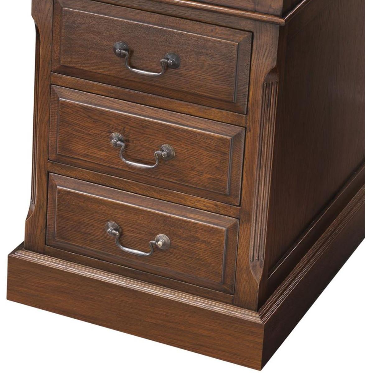 casa padrino luxus schreibtisch dunkelbraun 170 x 80 x h 78 cm m bel im englischen. Black Bedroom Furniture Sets. Home Design Ideas