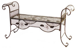 Casa Padrino Garden Bench Brown 134 x 40 x H. 70 cm - Art Nouveau Garden Furniture