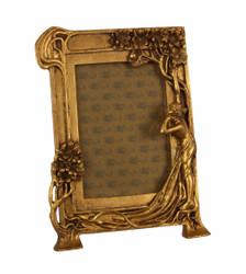 Casa Padrino Art Nouveau photo frame gold antique style 18.9 x 25.4 cm - frames frame Baroque photo frame