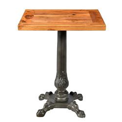 Casa Padrino Art Nouveau luxury table / side table teak wood / iron 60 x 60 x H74 cm - Cafe Restaurant furniture