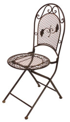 Casa Padrino Art Nouveau Garden Chair Brown 41 x 51 x H. 96 cm - Garden Furniture