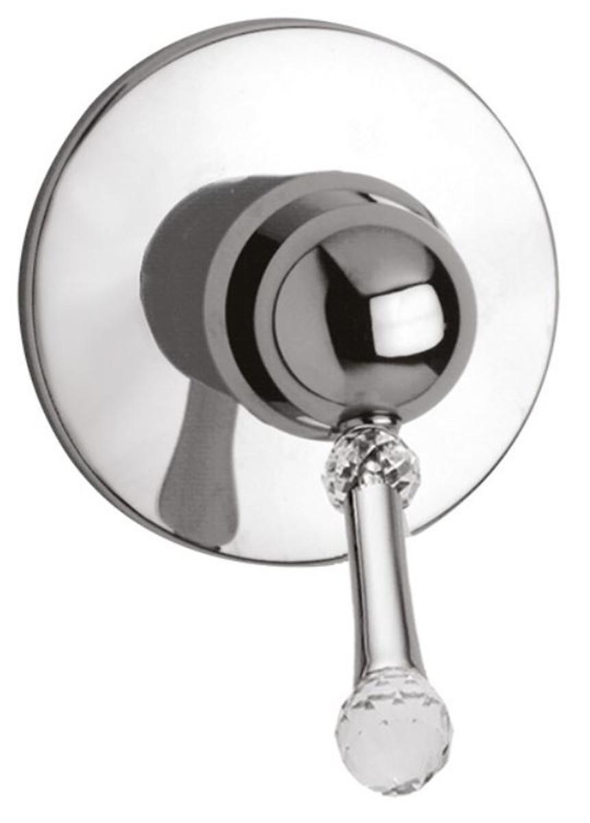 Luxus dusch unterputz einhebelmischer mit swarovski kristallglas silber 11 5 cm badezimmer - Swarovski badezimmer ...