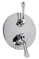 Luxury Shower Concealed Mixer Tap with 3 Exits & Conversion Silver Ø 19 cm - Luxury Quality Made in Italy