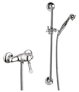 Luxus aufputz einhebelbrausebatterie mit swarovski kristallglas silber badezimmer brauseset - Swarovski badezimmer ...
