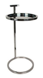 Casa Padrino Side Table with Handle Silver Ø 35.5 x H. 76 cm - Luxury Furniture