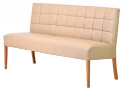 Casa Padrino Luxury Leather Bench Beige / Brown 190 x 62 x H. 88 cm - Genuine Leather Furniture