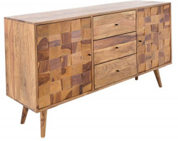 Casa Padrino Luxury TV cabinet natural W.145 x H.75 x D.40 - Sideboard - Dresser - Handmade solid wood!