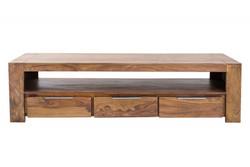 Casa Padrino Designer Fernsehschrank Natur B.170 x H.45 x T.47 - Sideboard - Kommode - Handgefertigt Massivholz!